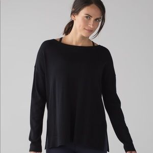 Lululemon Well Being Sweater Cashmere Tencel